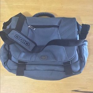 OGIO Grey\Teal Laptop messenger Bag